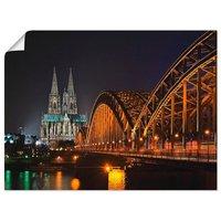 Artland Wandbild »Kölner Dom mit Brücke«, Deutschland (1 Stück)
