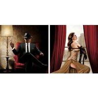 home affaire Home Kunstdruck »John Silver, Black Tie, high Heels«, (2 Stück), 2-tlg.