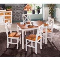 Home affaire Essgruppe, (Set, 5 tlg), mit kleinem oder großem Tisch