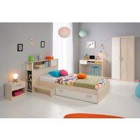 Jugendzimmer Charly unter 500 Euro mit Schrank, Bett, Regal, Nachttisch und Schreibtisch