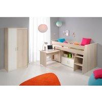 Jugendzimmer-Set Charly mit Kleiderschrank und halbhoch Bett unter 500 Euro
