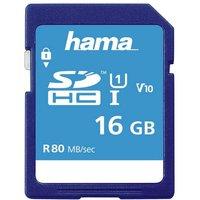 Hama SDXC Speicherkarte 16 GB, Class 10 UHS-I 80MB/S »SD Memory Card«