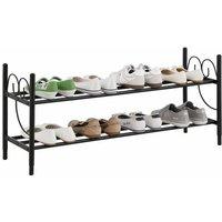 home affaire Home Schuhregal »Princess«, aus einem schönen Metallgestell, Platz für 8-10 Paar Schuhe (ohne Absatz) Höhe, 40 cm