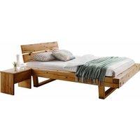 Premium collection by Home affaire Schlafzimmer-Set »Ultima«, (Set, 3-tlg), 3tlg., aus schönem massivem Wildeichenholz in Balken-Optik, bestehend 180 cm Bett + 2 Nachttischen