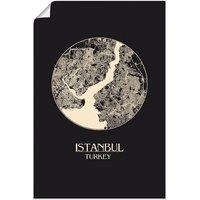 Artland Wandbild »Retro Karte Istanbul Kreis«, Landkarten (1 Stück), in vielen Größen & Produktarten - Alubild / Outdoorbild für den Außenbereich, Leinwandbild, Poster, Wandaufkleber / Wandtattoo auch für Badezimmer geeignet