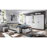 home affaire Home Schlafzimmer-Set »Siena«, (Set, 4-tlg), 5trg. Kleiderschrank, Bett 180 cm, 2 Nachttische