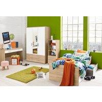Jugendzimmer unter 500 Euro mit Schrank, Bett, Schreibtisch und Regal