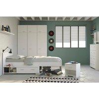 Galaxy Jugendzimmer unter 500 Euro mit Kleiderschrank, Bett, Nachttisch, Kommode