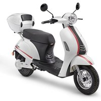 Luxxon E-Motorroller »E3100 LI 45 km/h«, 2000 W, 45 km/h, Euro 4, (Set, 2 tlg., mit Topcase)