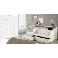 Jugendzimmer Sleep unter 500 Euro Kleiderschrank und Bett