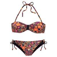 LASCANA Bandeau-Bikini im schönem Druckdesign mit Zierperlen