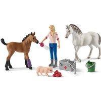 Schleich® Spielfigur »Horse Club, Spielset, Arztbesuch bei Stute und Fohlen (42486)«