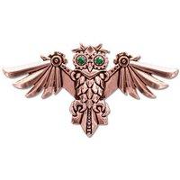 Adelia´s Amulett »Anne Stokes Engineerium Talisman Brosche«, Aviamore Eule - Für Freiheit des Geistes