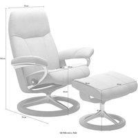Stressless® Relaxsessel »Consul« (Set), mit Hocker, Signature Base, Größe L, Gestell Whitewash
