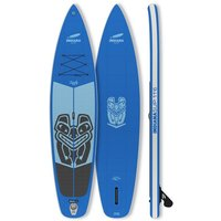 Indiana Paddle & Surf Inflatable SUP-Board »Indiana 11'6 Family Pack GREY«, Longboard, (Set)