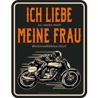 Rahmenlos Blechschild mit lustigem Motorrad-Print