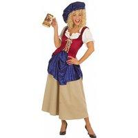 Mittelalterliche Marktfrau Wirtin Kostüm