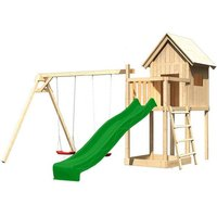 Spielturm Karibu  Frieda Anbau Satteldach Doppelschaukel*