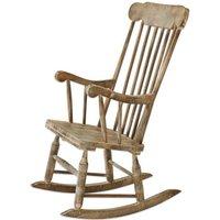 Holz Schaukelstuhl mit Antik-Style Adaleine – Handgedrechselt*