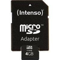 Intenso »microSDHC Class 4 + SD-Adapter« Speicherkarte (Lesegeschwindigkeit 16,5 MB/s)