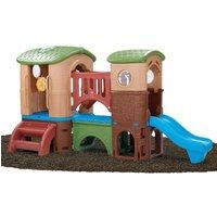 Märchen Kunststoff Spielturm mit Lenkrad und Rutschen