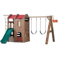 Märchen Kunststoff Spielturm Adventure Lodge mit Strickleiter