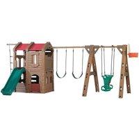 Märchen Spielturm Adventure Lodge mit 3 Schaukeln*