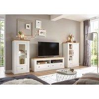 home affaire Home Wohnzimmer-Set »Westminster«, (bestehend aus 1 Vitrine, TV-Lowboard und Highboard)