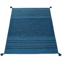 Teppich »Kilim 217«, Paco Home, rechteckig, Höhe 13 mm, hangefertigter Web-Teppich mit Fransen