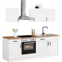 wiho Küchen Küchenzeile »Erla«, mit E-Geräten, Breite 220 cm