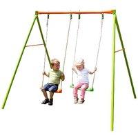 Metall Doppelschaukel für zwei Kinder auf garten-schaukeln.de ansehen
