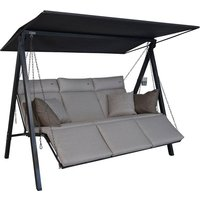 Hochwertige Stahl Hollywoodschaukel Lounge mit Dach*