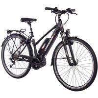 CHRISSON E-Bike Trekking Damen »E-Rounder Lady«, 9 Gang, Shimano DEORE Kettenschaltung, Rahmenakku, 250 W