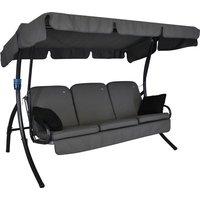 Comfort Style 3-Sitzer Stahl Hollywoodschaukel mit Dach