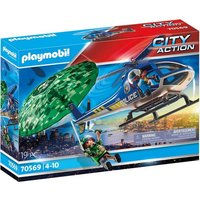 Playmobil® Konstruktions-Spielset »Polizei-Hubschrauber: Fallschirm-Verfolgung (70569), City Action«, Made in Germany