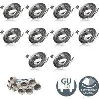 10x Einbau-Rahmen GU10 Einbauleuchte Strahler Ringe Gehäuse Einbau-Spots Rahmen - B.K.LICHT