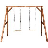 Stabile Doppelschaukel AXI aus Holz
