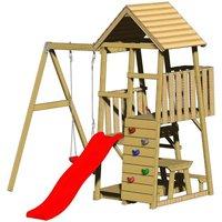 Spielturm Gorilla - Rutsche Schaukel und Kletterwand*