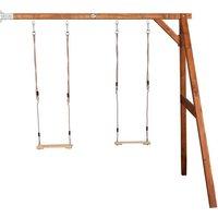 Wand Doppelschaukel AXI aus Holz auf garten-schaukeln.de ansehen
