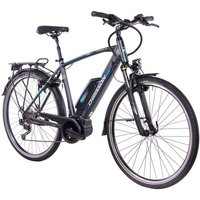 CHRISSON E-Bike Trekking Herren »E-Rounder Gent«, 9 Gang, Shimano DEORE Kettenschaltung, Rahmenakku, 250 W