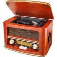 Nostalgische radio Dual NR 1 CD CD-radio FM, Middengolf Hout