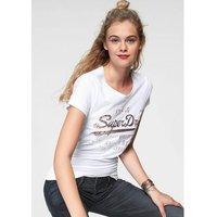 Superdry shirt met print SHIRT SHOP INFILL EMBOSS ENTRY TEE