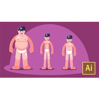 Image of Learn Illustrator CC: Create Simple Flat Vector Characters