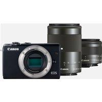 Canon EOS M100 nera + Obiettivo EF-M 15-45mm IS STM nero + Obiettivo EF-M 55-200mm IS STM nero