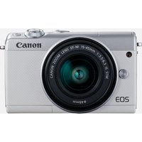 Canon EOS M100 bianco + obiettivo EF-M 15-45mm F3.5-6.3 IS STM argento