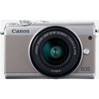 Canon EOS M100 grigio + obiettivo EF-M 15-45mm F3.5-6.3 IS STM argento