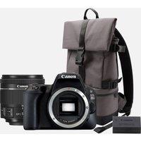 Canon EOS 200D Nero + obiettivo 18-55mm f/4-5.6 IS STM Nero + zaino + batteria aggiuntiva