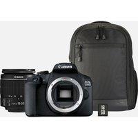 Canon EOS 2000D + obiettivo EF-S 18-55mm IS II + zaino + scheda SD