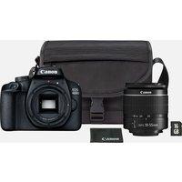Canon EOS 4000D noir + Objectif EF-S 18-55mm III + Sac + Carte SD