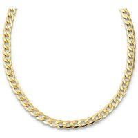 9ct Yellow Gold 150 Gauge Hollow 6 Sided Curb Chain 18 Inch
